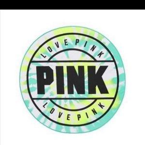 Victoria Secret Pink Tie Dye  Round Beach Towel
